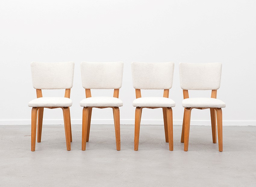 SOLD Cor Alons 4 X Birch Chairs Den Boer 50s