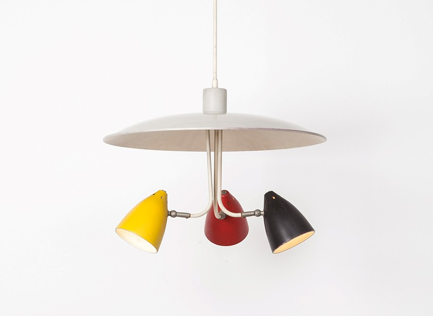 SOLD H.Th.J.A. Busquet Hanging Lamp Hala 50s