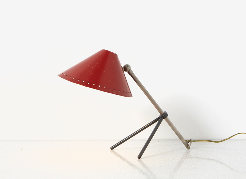 SOLD H. Busquet Pinocchio Table Lamp Hala 1950s