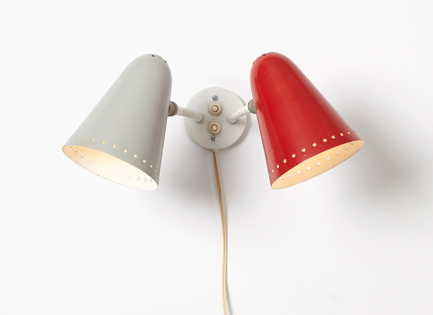 SOLD H. Busquet Wall Lamp Hala 1950s