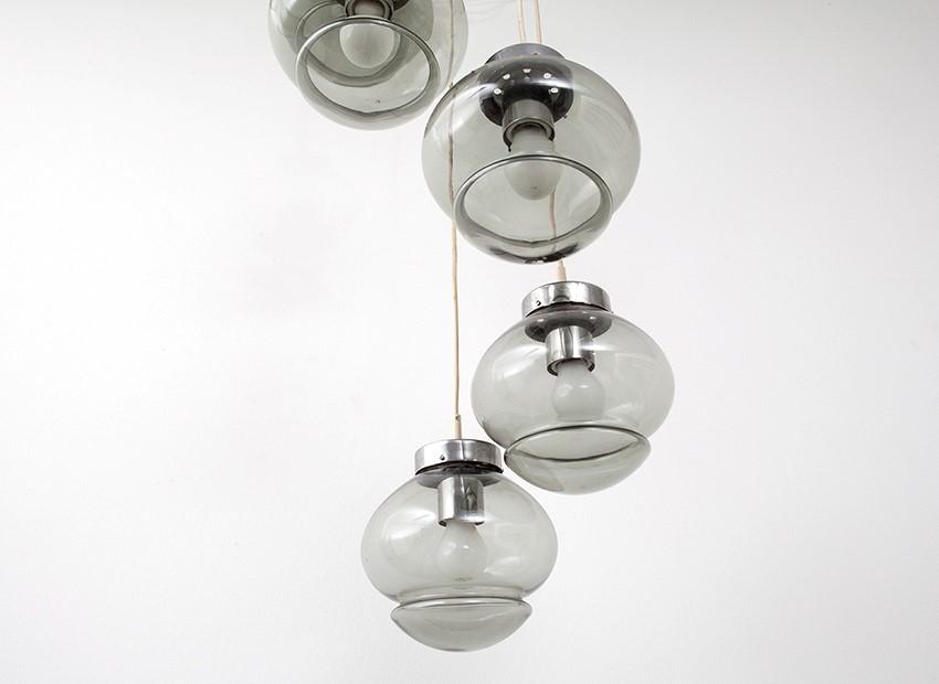 Studio raak chandelier glass balls dutch s