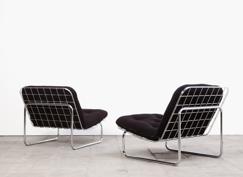 SOLD Kho Liang Ie 2 x Wire Easy Chair Artifort 60s