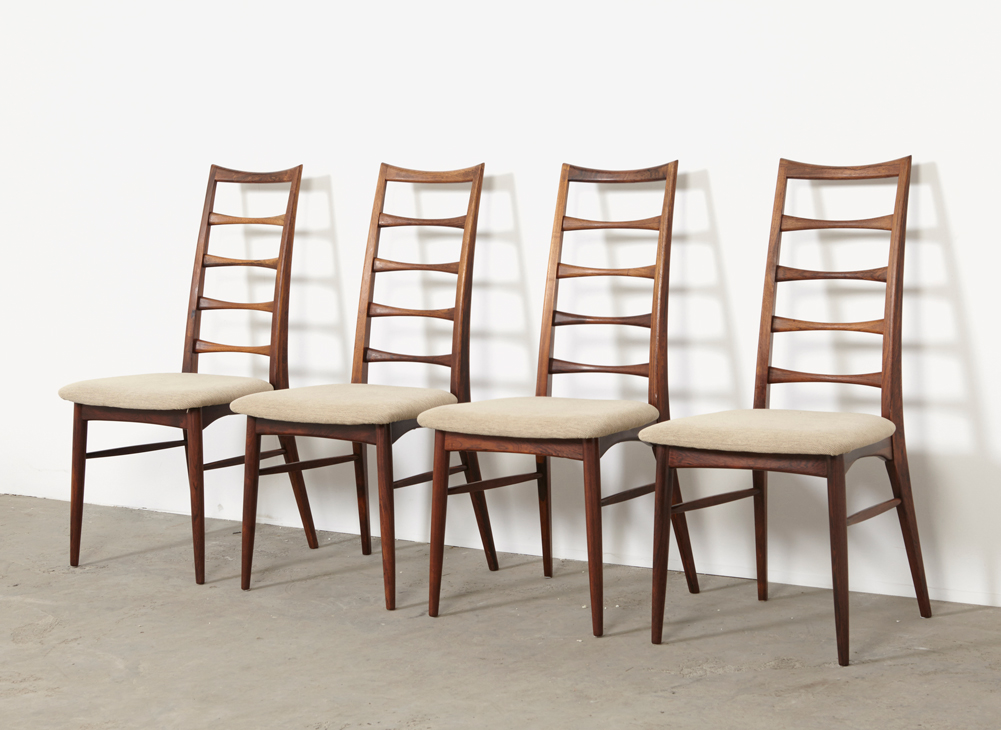 SOLD Niels Koefoed Set of 4 Rosewood Lis Dining Chairs Hornslet 1960s