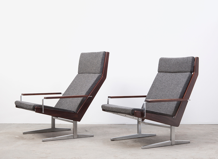 SOLD Rob Parry A Pair of Lotus Lounge Chairs Gelderland 60s