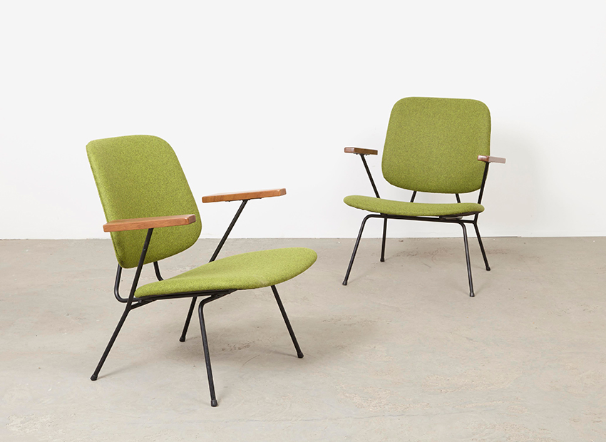 SOLD W.H.Gispen Set of 2 Lounge Chairs 1950s