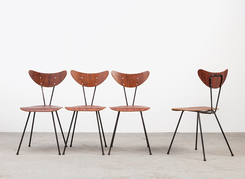 SOLD W.H. Gispen 103 Chairs Set of 4 Kembo 1953