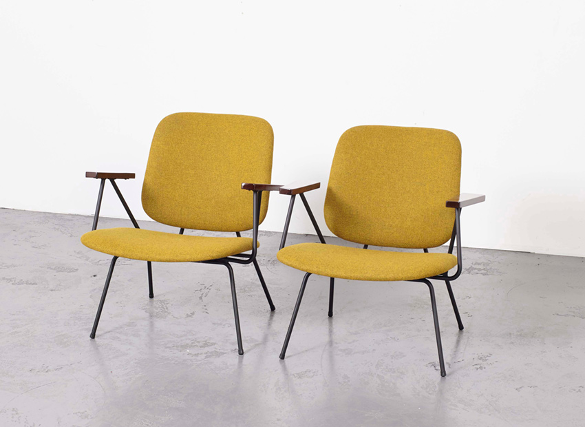 SOLD W.H.Gispen Set of 2 Lounge Chairs Kembo 1950s