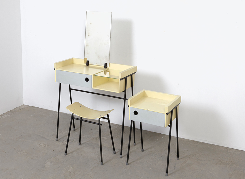 SOLD Rob Parry DressingTable + Stool + Night Cabinet Dico 1956