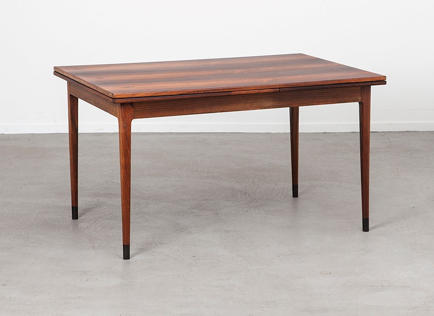 SOLD Niels O. Moller Rosewood Extendable Dining Table J.L. Mollers Mobelfabrik Denmark 60s