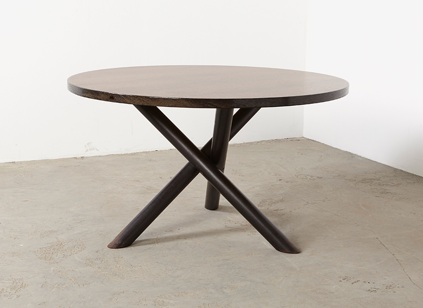 SOLD Round Modernist Dining Table 1960s
