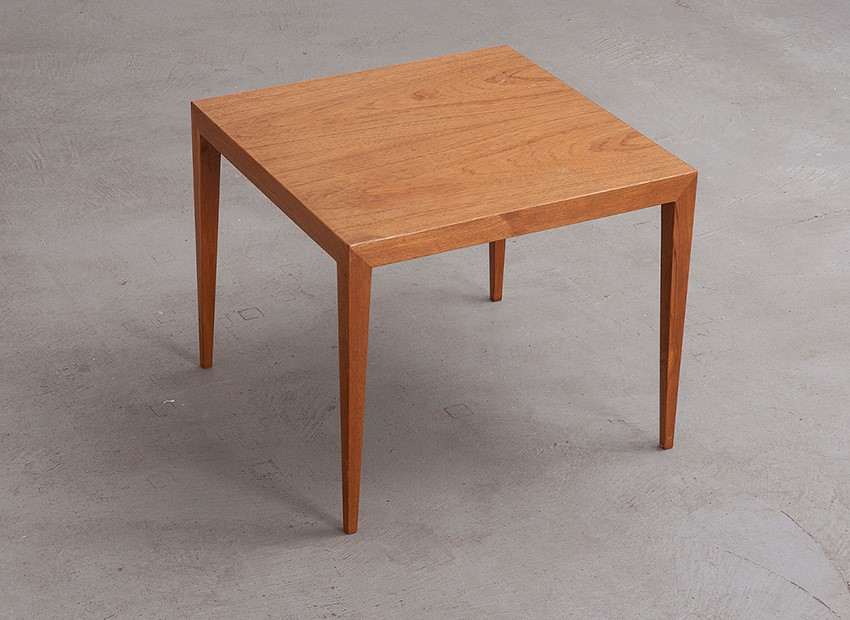 SOLD Severin Hansen Squared Teak Coffee Table Haslev Denmark 60s